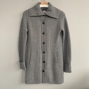 Patagonia Grey Merino wool long cardigan sweater